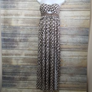 Silence + Noise Urban Outfitters Brown Maxi Dress